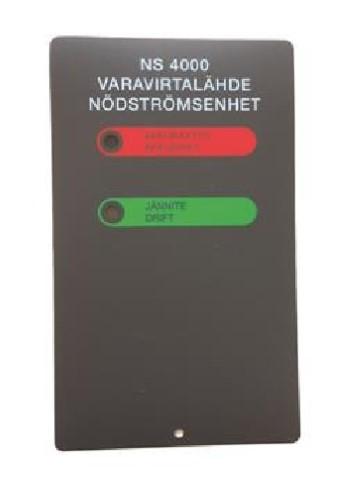 NS 4000 suomenkielinen tarra