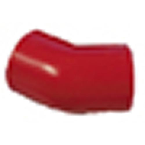 Rörböj 45gr. 25mm, röd