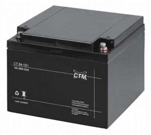Batteri l2 V 24 Ah inkl.miljöa