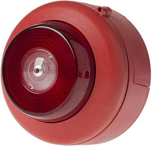 Blixt EN54 röd/rött ljus Tak