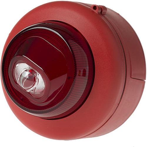 Blixt EN54 röd/rött ljus Vägg