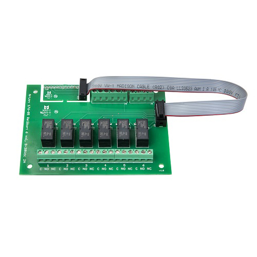 Reläkort 6 vxl, 9-30 Vdc 2A