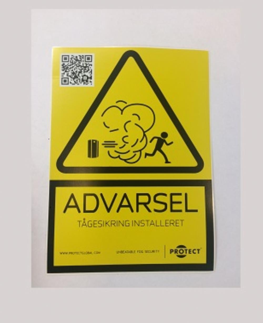 Protect liten varningsskylt