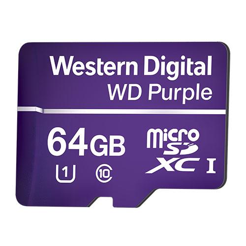 WDD064G1P0A 64GB MicSD Purple