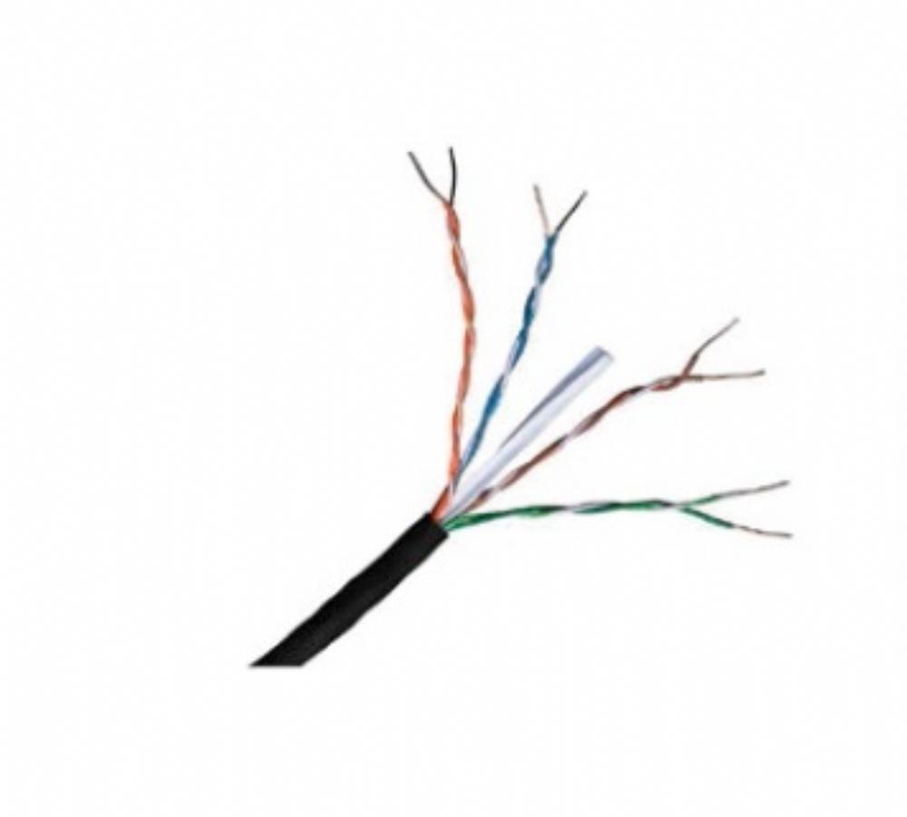Connectix Kat 6 Nätverkskabel för Nätverksenhet, Patch Panel - 305 m - Bare Wire - Bare Wire - Svart