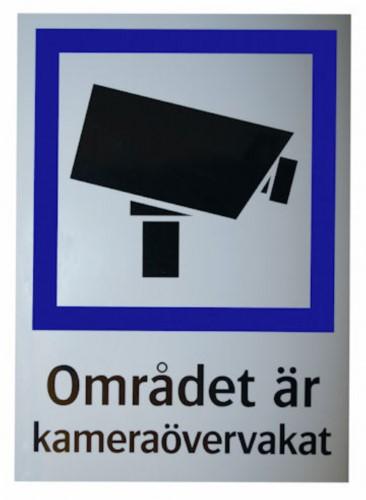 Klisterdekal CCTV A4