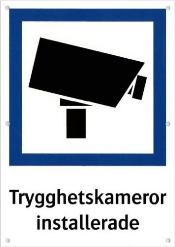 CCTV skylt A4