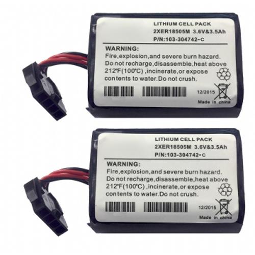 Kit 2 x Batterier  & Cable