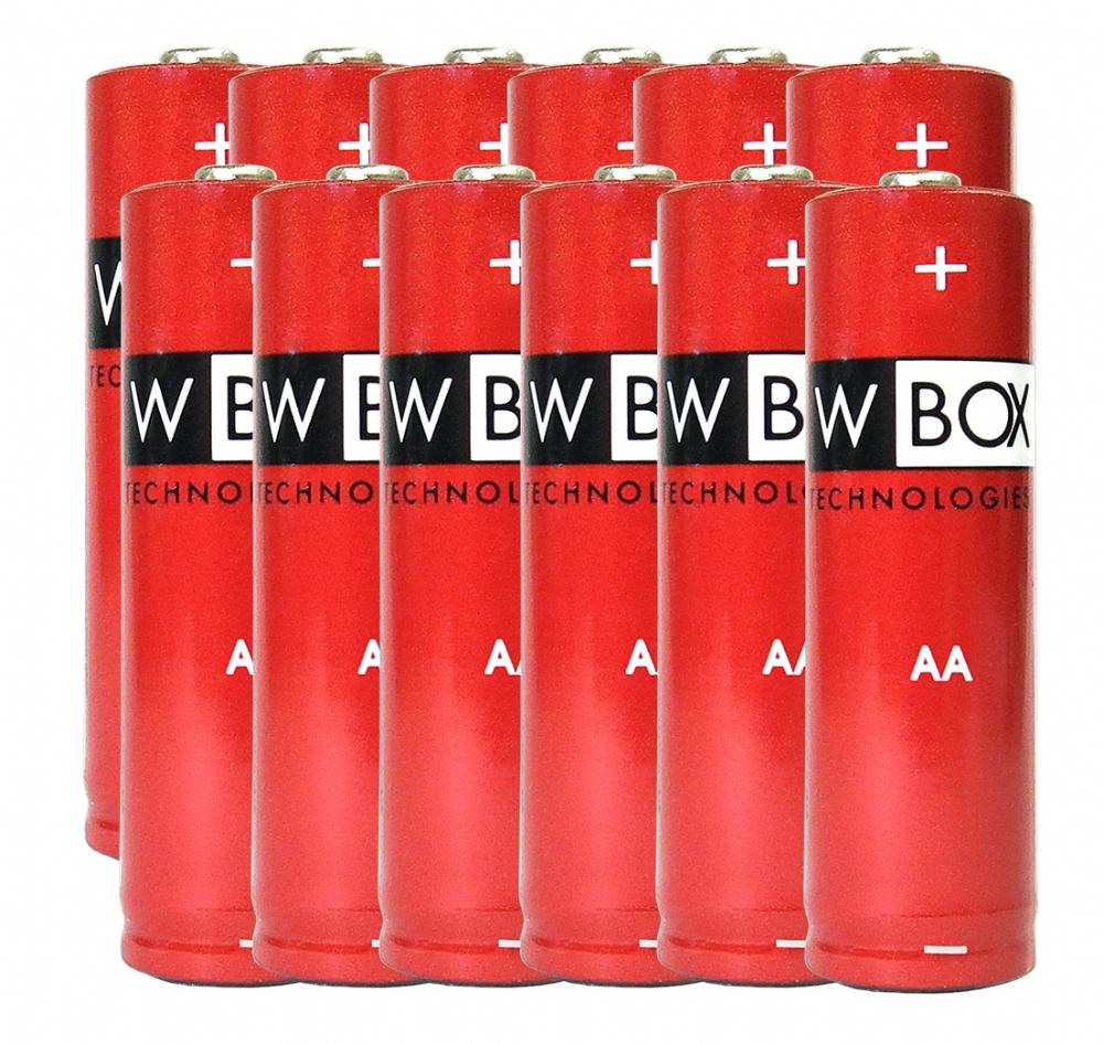 W Box Flerfunktions Batteri - AA - Alkaline - 12 Pack