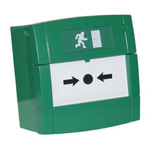 Larmknapp MCP 4A, Grön, 2 vxl,