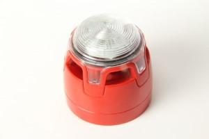 Siren/Blixt Röd LED IP21C EN54
