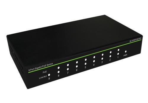 SWITCH POE 9 port GB inc 1 x uplink 130w