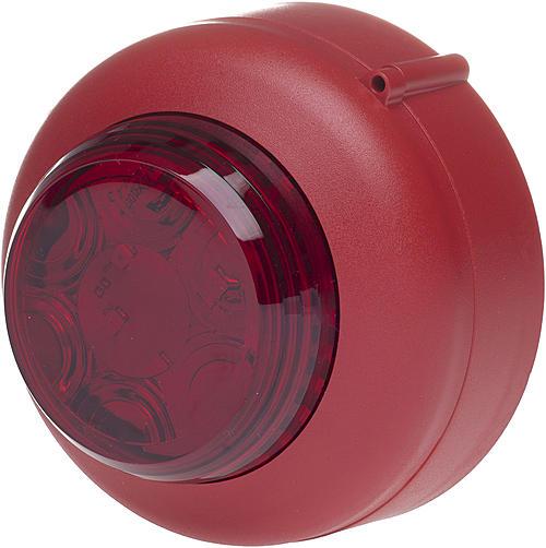 Cranford Controls - Trådbunden - Röd sockel med röd lins