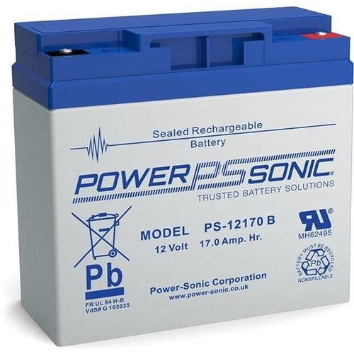 POWERSONIC Sealed Lead Rechargeable Acid Battery 12V 17AH