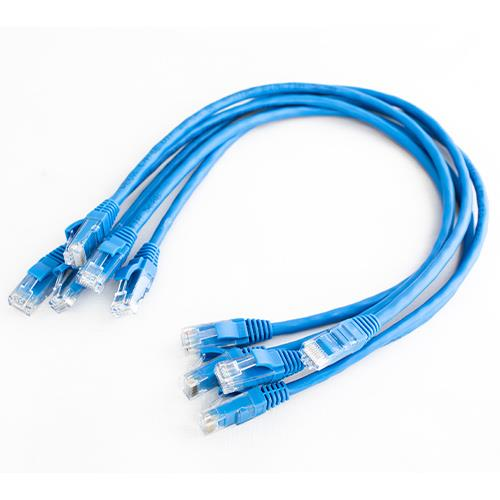 1m Cat6e Patch RJ45 Blue 5PACK