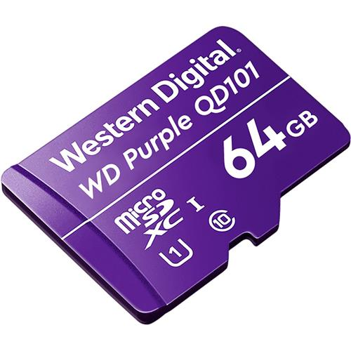 WD Storage 64GB MicSD Purple