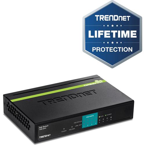 TRENDnet TPE-S44 Ethernet-switch - 2 Layer Supported - Desktop - 5 År Limited Warranty