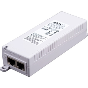 AXIS T8133 PoE Injector - 120 V AC, 230 V AC Indata - 1 10/100Base-TX Input Port(s) - 1 10/100Base-TX Output Port(s) - 30 W