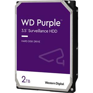 """WD Purple WD20PURZ 2 TB Hårddisk - 3.5"""" Intern - SATA (SATA/600) - 5400rpm"""