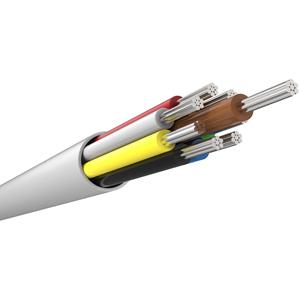 CQR för Larm - 100 m - Bare Wire - Bare Wire - Vit
