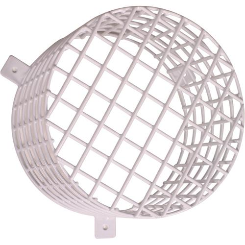 STI STI-9614 Säkerhetsskydd för Ekolod, Varningslampa - Vandaliseringsresistent - Galvaniserat stål - Vit