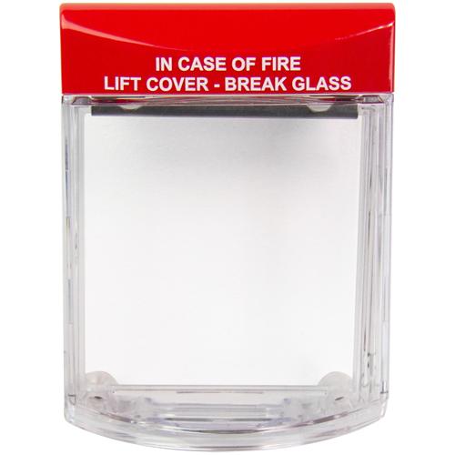 STI Stopper STI-6931 Säkerhetsskydd - Polycarbonate - Clear, Röd