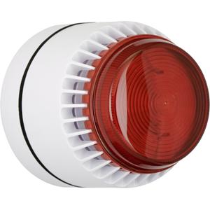 Kombi vit/röd blixt Flashni låg sockel 15 Vdc 103 db