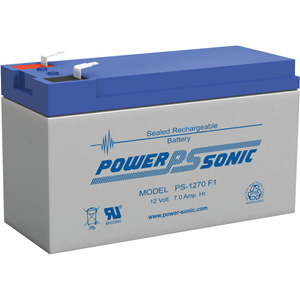 Power Sonic PS-1270 Batteri - Förseglat blysyra (SLA) - För Flerfunktions - Laddningsbart batteri - 12 V DC - 7000 mAh - 84 Wh