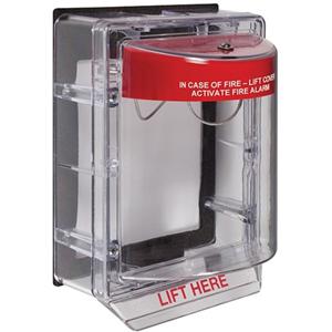 STI Weather Stopper STI-3150 Säkerhetsskydd - Polycarbonate - Röd, Clear
