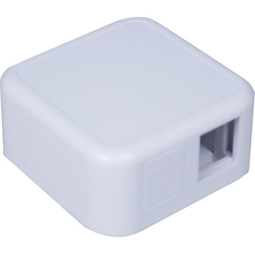 Connectix Keystone Mounting Box - 1 x Total Number of Socket(s) - Akrylonitrilbutadienstyren (ABS) - Vit