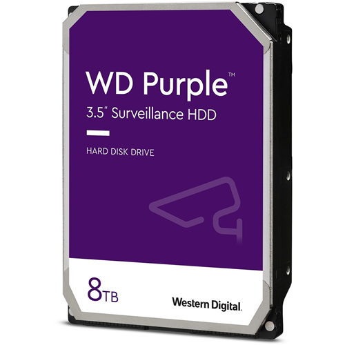 "WD Purple WD82PURZ 8 TB Hårddisk - 3.5"" Intern - SATA (SATA/600) - Nätverksinspelare Device Supported - 7200rpm"