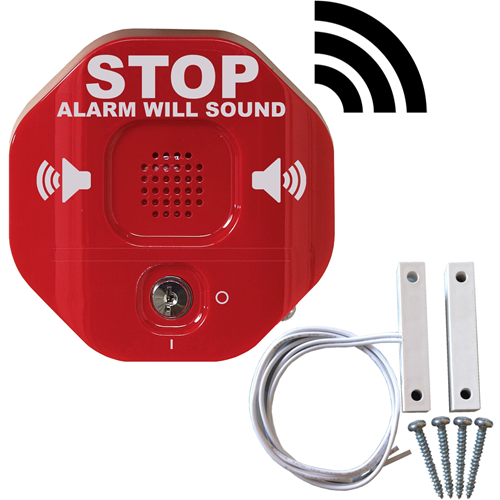 STI Säkerhetslarm - 105 dB - Hörbar - Ytmontering - Röd