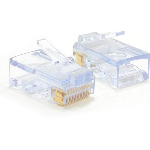 W Box Guld Plated Nätverksanslutning - 100 Paket - 1 x RJ-45 Hane Nätverk