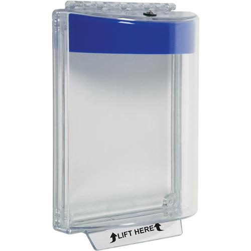 STI Universal Stopper STI-13010NB Säkerhetsskydd - Indoor, Outdoor - Dammtålig, Vandaliseringsresistent - Polycarbonate - Blå, Clear