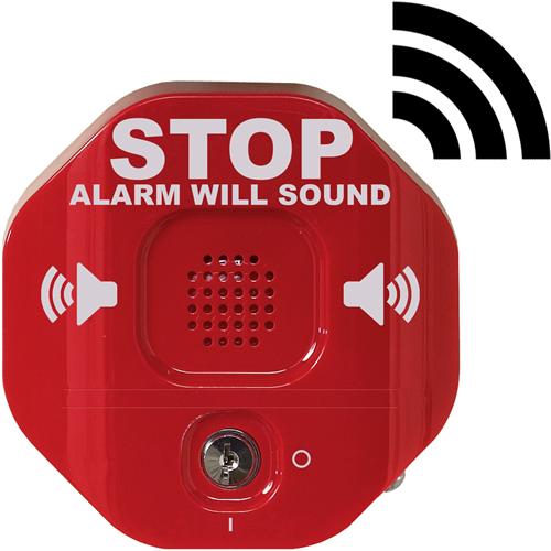 STI Exit Stopper Säkerhetslarm - Trådlös - 105 dB - Hörbar - Röd