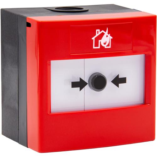 STI WRP2-R-11 Manuell samtalspunkt för Inomhus/utomhus - Röd - Plast, Glas, Polycarbonate